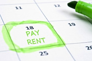 Calendar mark  with Pay rent