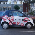 Hot Lips Pizza car