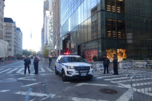 NYC 5th Avenue. All traffic blocked off